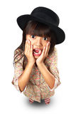 Surprised little asian girl Stock Photography