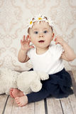 Surprised little baby girl Stock Images