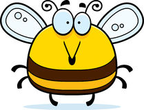 Surprised Little Bee. A cartoon illustration of a bee looking surprised royalty free illustration