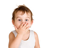 Surprised Little Boy Royalty Free Stock Image