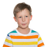 Surprised little boy Stock Photography