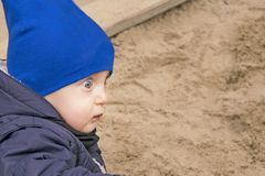 Surprised little boy with open-eyed Royalty Free Stock Photo