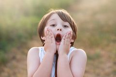 Surprised little boy Royalty Free Stock Images