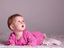 Surprised little girl Stock Photos