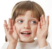 Surprised little girl Royalty Free Stock Photos