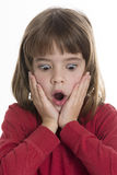 Surprised little girl Stock Photography