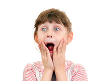 Surprised Little Girl Royalty Free Stock Images