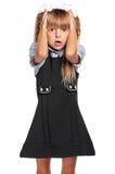 Surprised little girl Stock Image