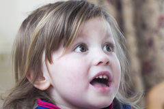 Surprised little girl Royalty Free Stock Photo