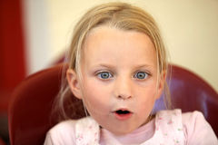 A surprised little girl Royalty Free Stock Photo
