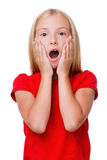 Surprised little girl. Royalty Free Stock Photography