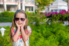 Surprised little girl on summer vacation Royalty Free Stock Photos