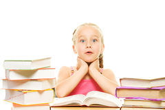 Surprised little schoolgirl Royalty Free Stock Image