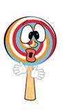 Surprised Lollipop cartoon Royalty Free Stock Photos