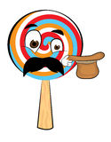 Surprised Lollipop cartoon Stock Photos