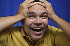 Surprised man. This picture represents a man with a surprised expression Royalty Free Stock Photos