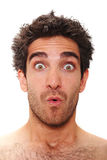 Surprised man. Man with surprised facial expression Stock Images