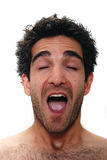 Surprised man. Man with surprised facial expression Stock Photo