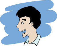 Surprised man face Royalty Free Stock Photography