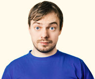 Surprised man face. Royalty Free Stock Photography