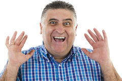 Surprised man gesturing portrait Stock Photography