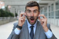 Surprised man with glasses close up Royalty Free Stock Photography