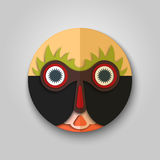 Surprised man icon, african mask design Stock Photos