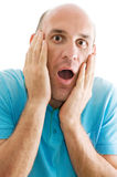 Surprised man isolated Stock Photo