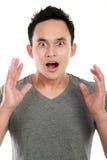 Surprised man isolated on white background Stock Image