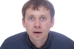 Surprised man isolated on white Stock Photography