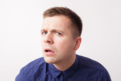 Surprised man looks forward Royalty Free Stock Images