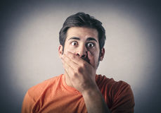 Surprised man Stock Photography