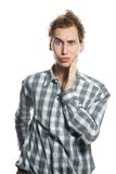 Surprised Man Over White Royalty Free Stock Images