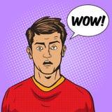Surprised man pop art style vector illustration Royalty Free Stock Photo