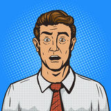 Surprised man pop art style vector illustration Royalty Free Stock Photography