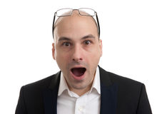 Surprised man portrait Royalty Free Stock Photos