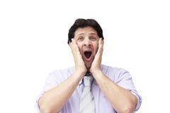 Surprised man - The scream Royalty Free Stock Photos