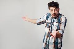 Surprised man showing Royalty Free Stock Image