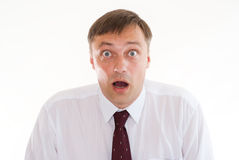 Surprised by a man standing Royalty Free Stock Photos