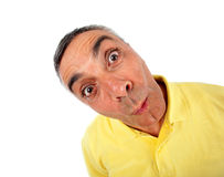 Surprised man with WOW expression. Stock Photography