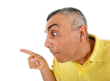 Surprised man with WOW expression. Royalty Free Stock Photo