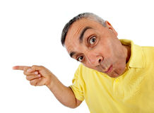 Surprised man with WOW expression. Surprised man with WOW expression on white backgound stock images
