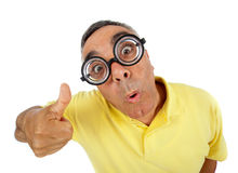 Surprised man with WOW expression. Stock Images