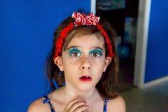 Surprised Marker Makeup Girl Royalty Free Stock Photos