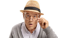 Free Surprised Mature Man Looking At The Camera Royalty Free Stock Images - 98923809