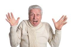Surprised mature man Royalty Free Stock Photos