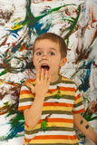 Surprised messy boy Royalty Free Stock Photography