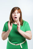 Surprised middle-aged woman. Stock Photography