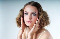 Surprised Model look Royalty Free Stock Photos