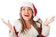 Surprised Mrs Claus Royalty Free Stock Photo